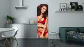 dc910b5db3 Carta da Parati Desireble donna bruna che indossa lingerie rossa ...