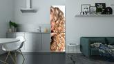 Kauneus tyttö blondi kiharat hiukset. pitkät karvat Pixerstick tarra ... e64b425f04