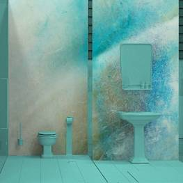 Wall Mural Bathroom - Shell