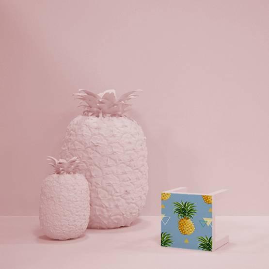 Nálepka - Geometrické ananasy