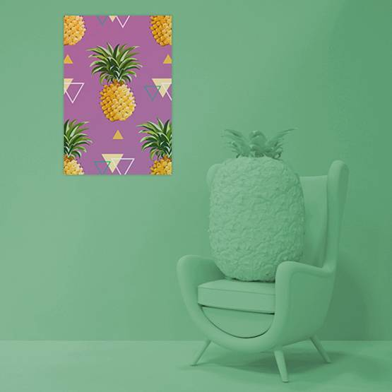Poster - Geometric Pineapple Background