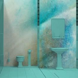 Fototapet till badrummet - Shell makro bakgrund