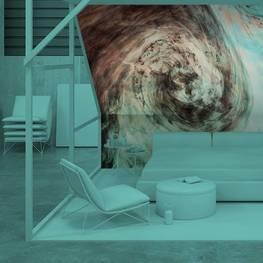 Fototapet till sovrummet - Mörk akvarell i vatten med små bitar av smärta