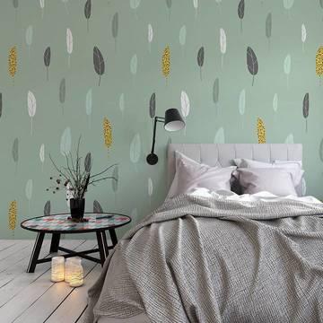 Carta da Parati & adesivo per camera da letto - Stile scandinavo