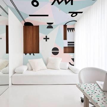 Carta da Parati & adesivo per camera da letto - Stile minimalista