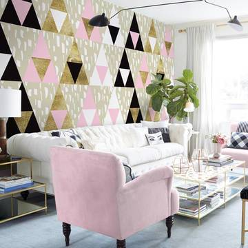 Wall Mural & Sticker Living room - Triangles