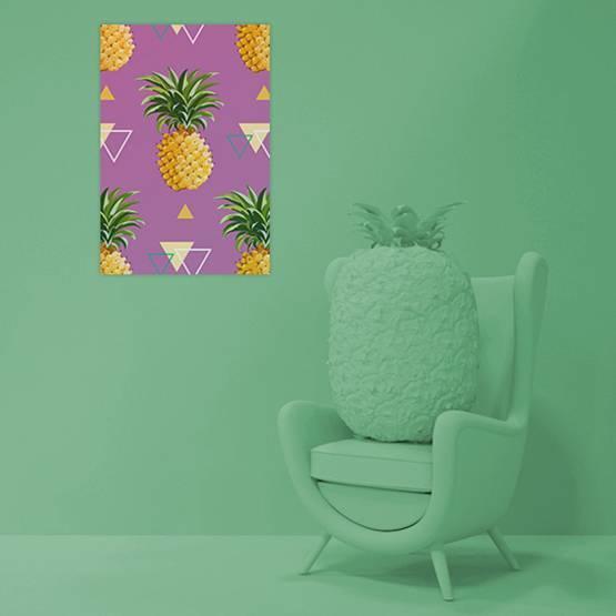 Poster - Geometrik Ananas Arka Planı