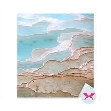 Nálepka - Travertin bazény a terasy v Pamukkale, Turecku