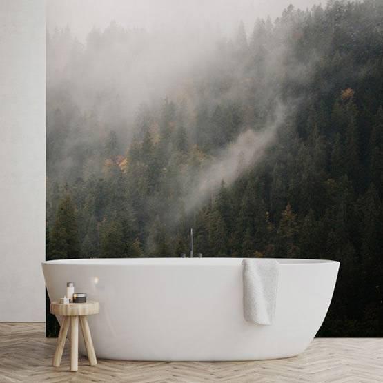 Fototapeta - Mlhavý les