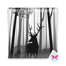 Fototapet - Hjort i skogen