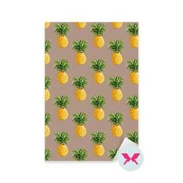 Adesivo - Ananas Sfondo Tropicale