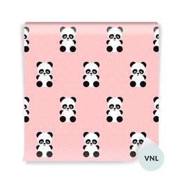 Fototapeta dla malucha - Pandy na różowym tle