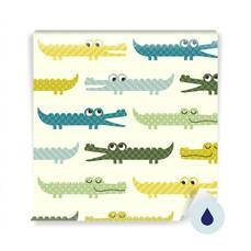 Wall Mural Preschooler - Crocodile cartoon pattern