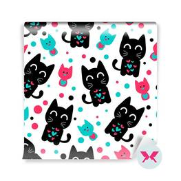 Wall Mural Preschooler - Cute funny kittens