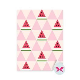 Dekor för dagisbarn - Vattenmelonskivor i geometrisk stil