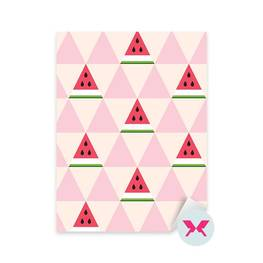 Sticker Preschooler - Watermelon slices in the geometric style