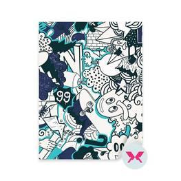 Dekor till en tonårspojkes rum - Graffiti färgstarkt mönster