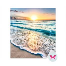 Nálepka do ložnice - Východ slunce na pláži