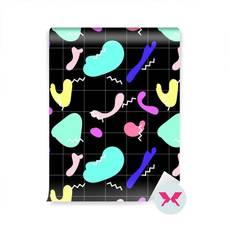 Papel Pintado - Patrón con manchas coloridas