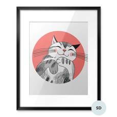Plakat dla ucznia - Kot