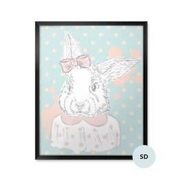 Poster till skolflickan - Kanin