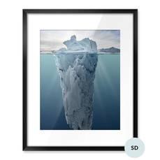 Póster - Iceberg con vista submarina