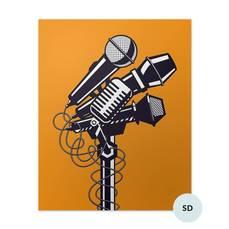 Plakat - Mikrofony