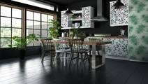 Behang Kleur Eucalyptus : Behang waterverf het groene bloemen naadloze patroon met
