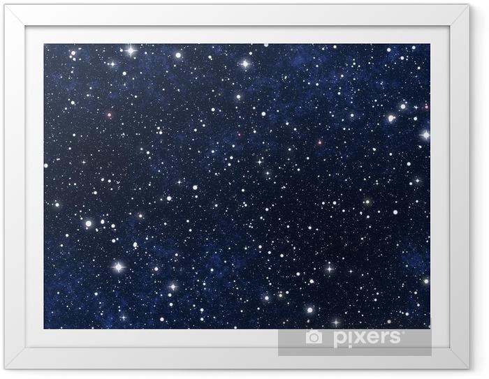 Póster Enmarcado Estrellado cielo nocturno - Universo