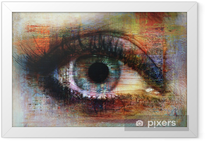 Poster en cadre Eye texture -