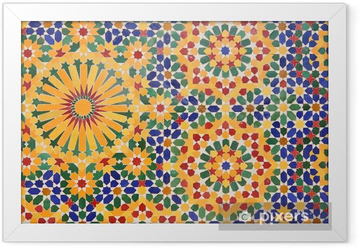Plakat w ramie Ozdoba Meczet Hassana II w Casablance, Maroko - Maroko