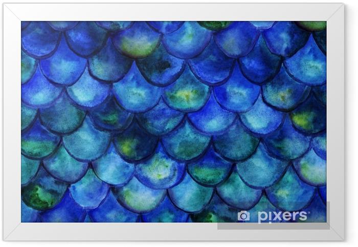Plakat w ramie Mermaid tale akwarela - Zwierzęta