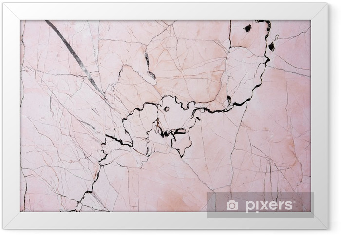 Pink light marble stone texture background.Beautiful pink marble Framed Poster - Graphic Resources