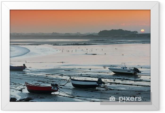aurore sur la baie d'Audierne Framed Poster - Landscapes
