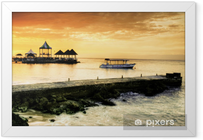 Caribbean Sunset Framed Poster - Themes