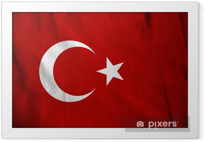 Plakat w ramie Turcja flag - Tematy