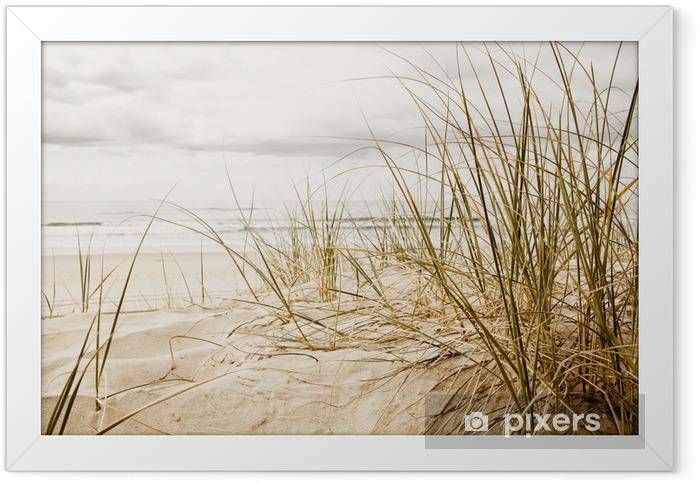 Plakat w ramie Wysokie trawy na plaży w zbliżeniu - Przeznaczenia