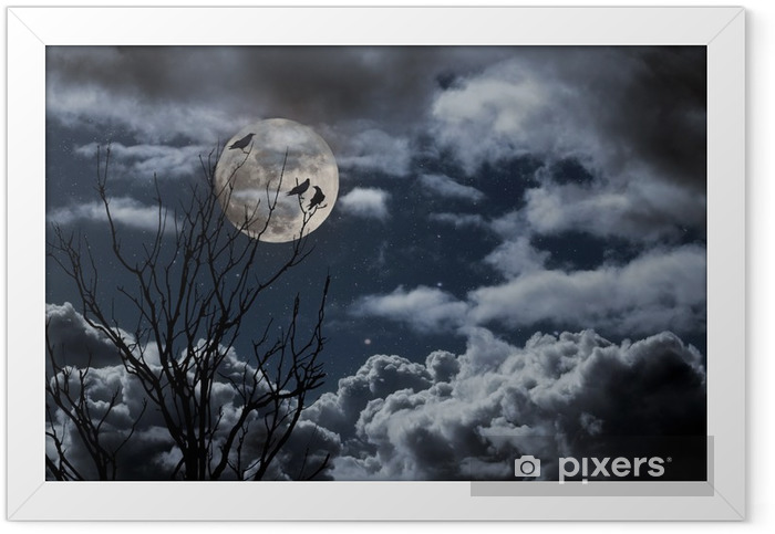 Poster en cadre Pleine lune - Thèmes