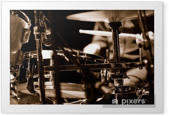 batteur sur scène Framed Poster - Jazz