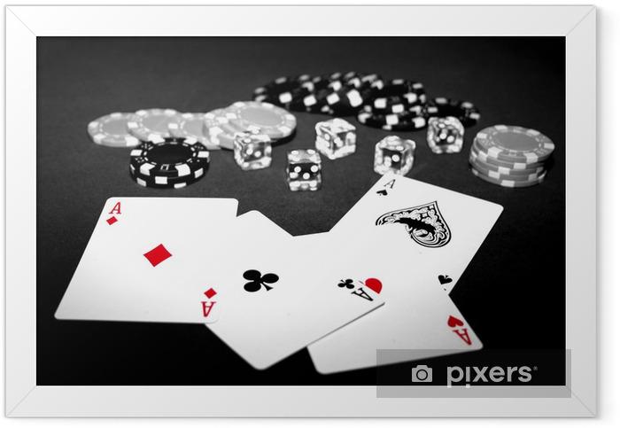 Poker d'assi Framed Poster - Addiction