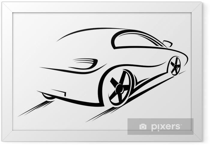 Plakat w ramie Silhouette samochodów - Criteo