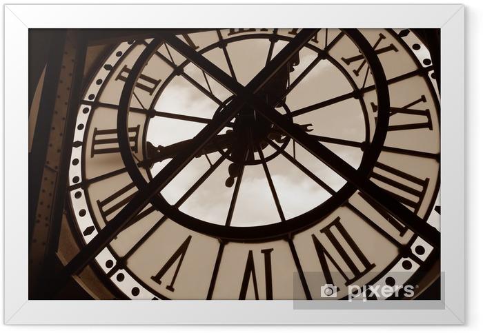 Poster en cadre Horloge au Musée d'Orsay. Paris, France - Horloges