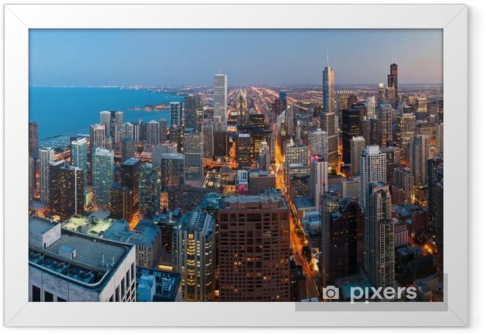 City of Chicago. Framed Poster - Themes