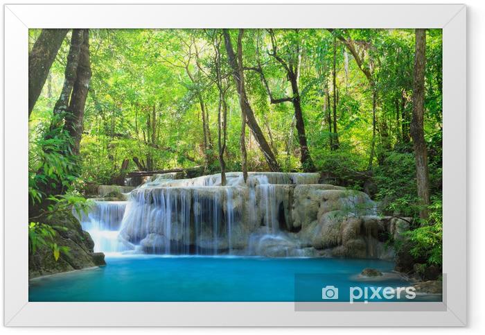 Poster en cadre Erawan Waterfall, Kanchanaburi, Thaïlande - Thèmes