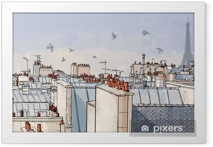 France - Paris roofs Framed Poster -