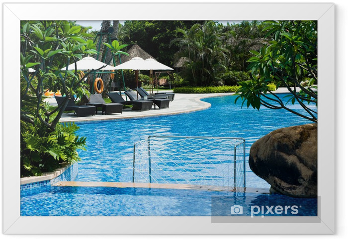 swimming pool Framed Poster - Home and Garden