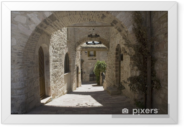 Plakat w ramie Trochę mała uliczka we włoszech - Tematy