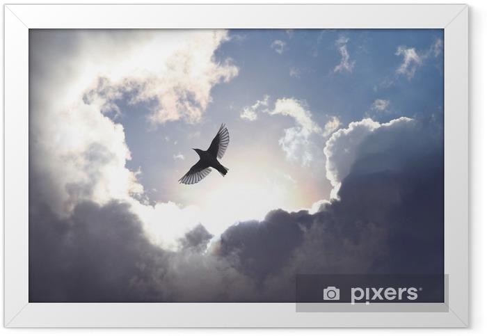Plakat w ramie Anioł w niebie ptak - iStaging