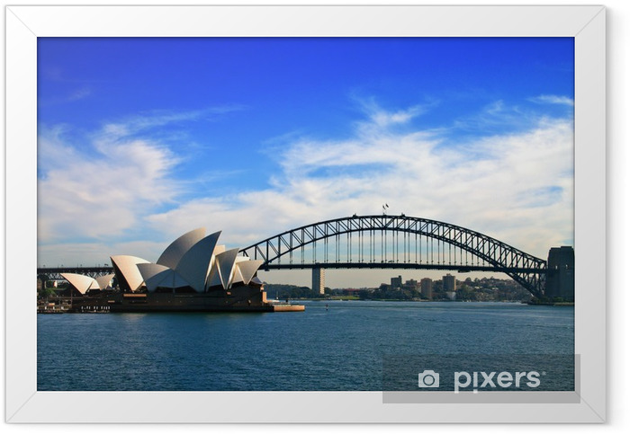 Sydney Opera House and Harbour Bridge.. Framed Poster - Urban