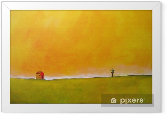 Plakat w ramie Jest to malarstwo abstrakcyjne sceny rolniczych - Style